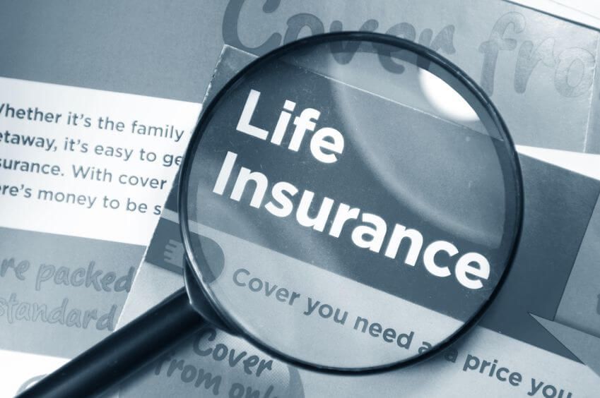 magnifying glass over Life Insurance